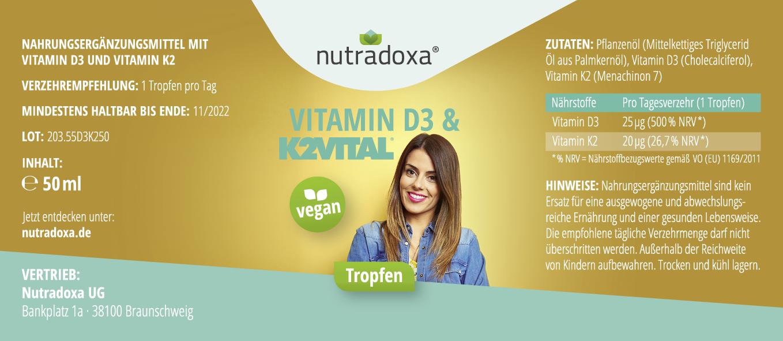 Vitamin D3 & K2VITAL® Tropfen