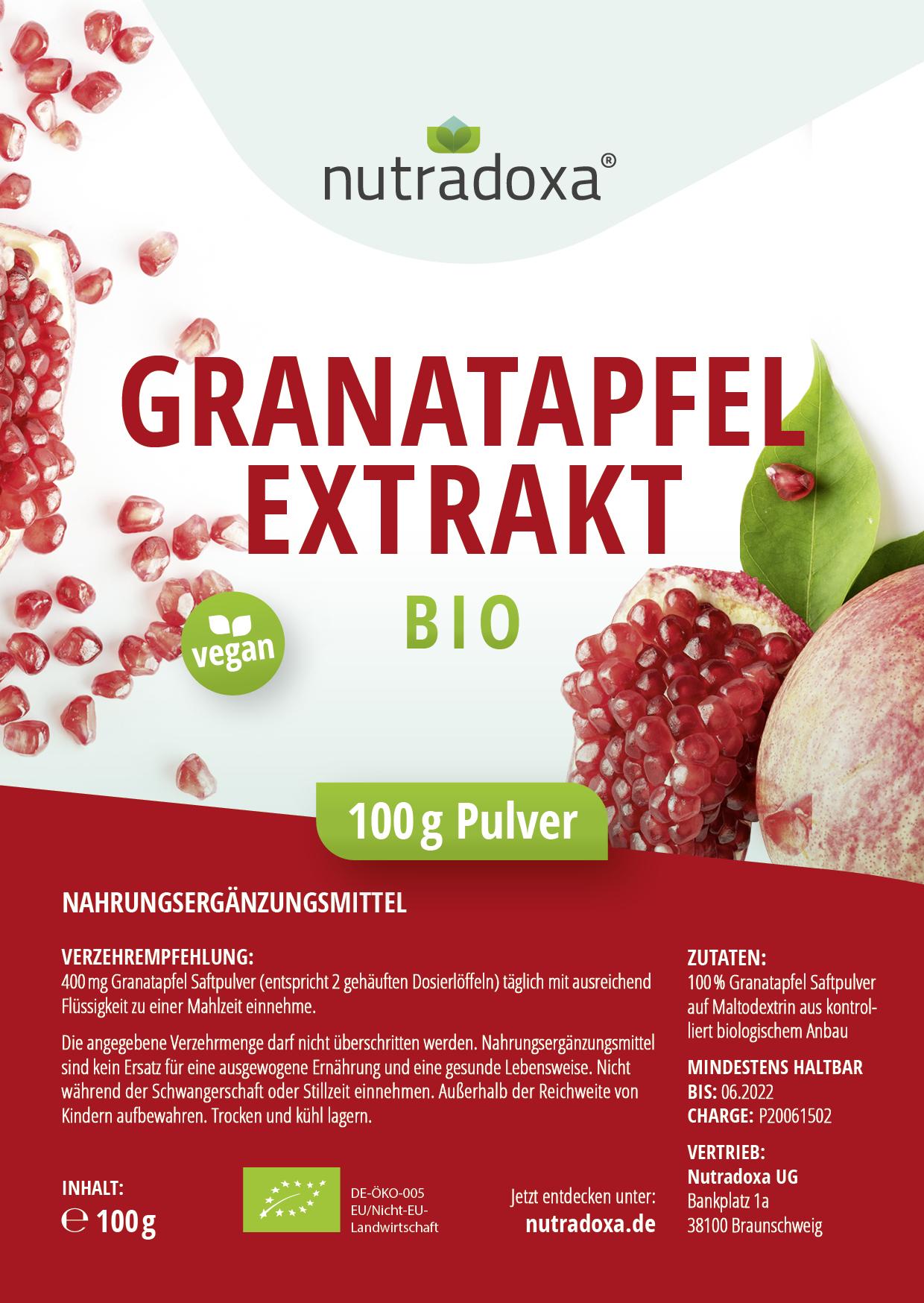 Bio Granatapfel  Extrakt