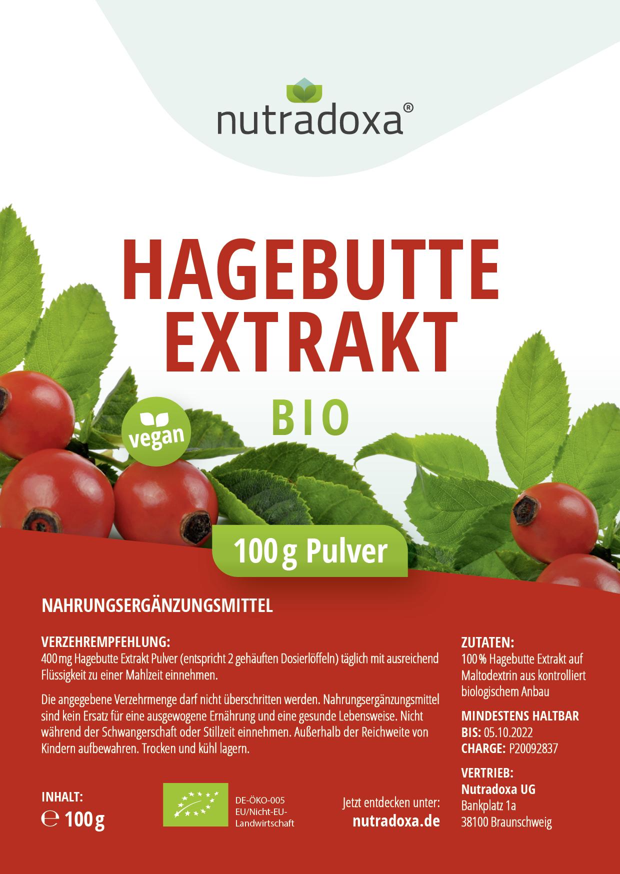 Bio Hagebutte Extrakt