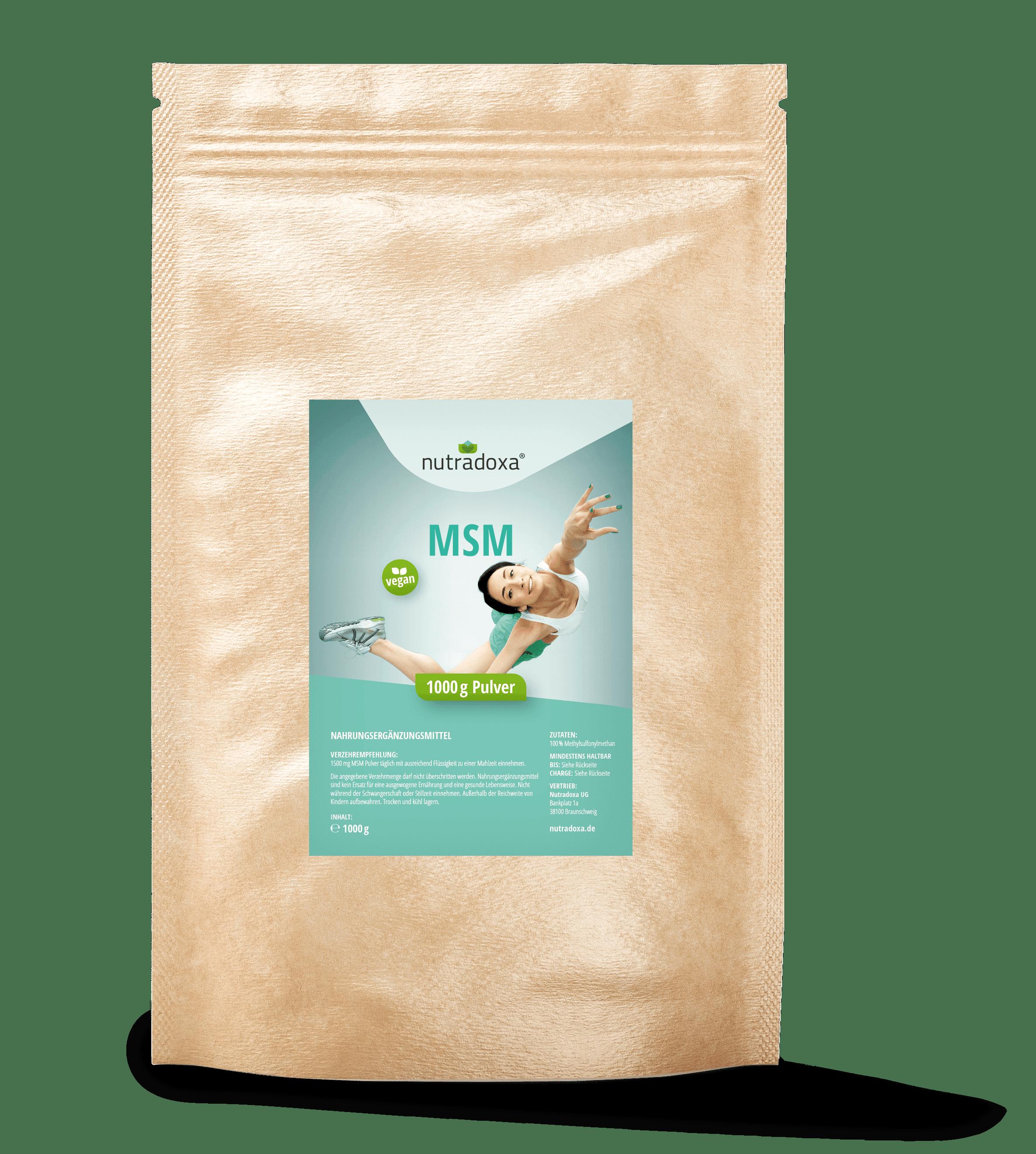 MSM Pulver, Methylsulfonylmethan, organischer Schwefel ohne Zusätze